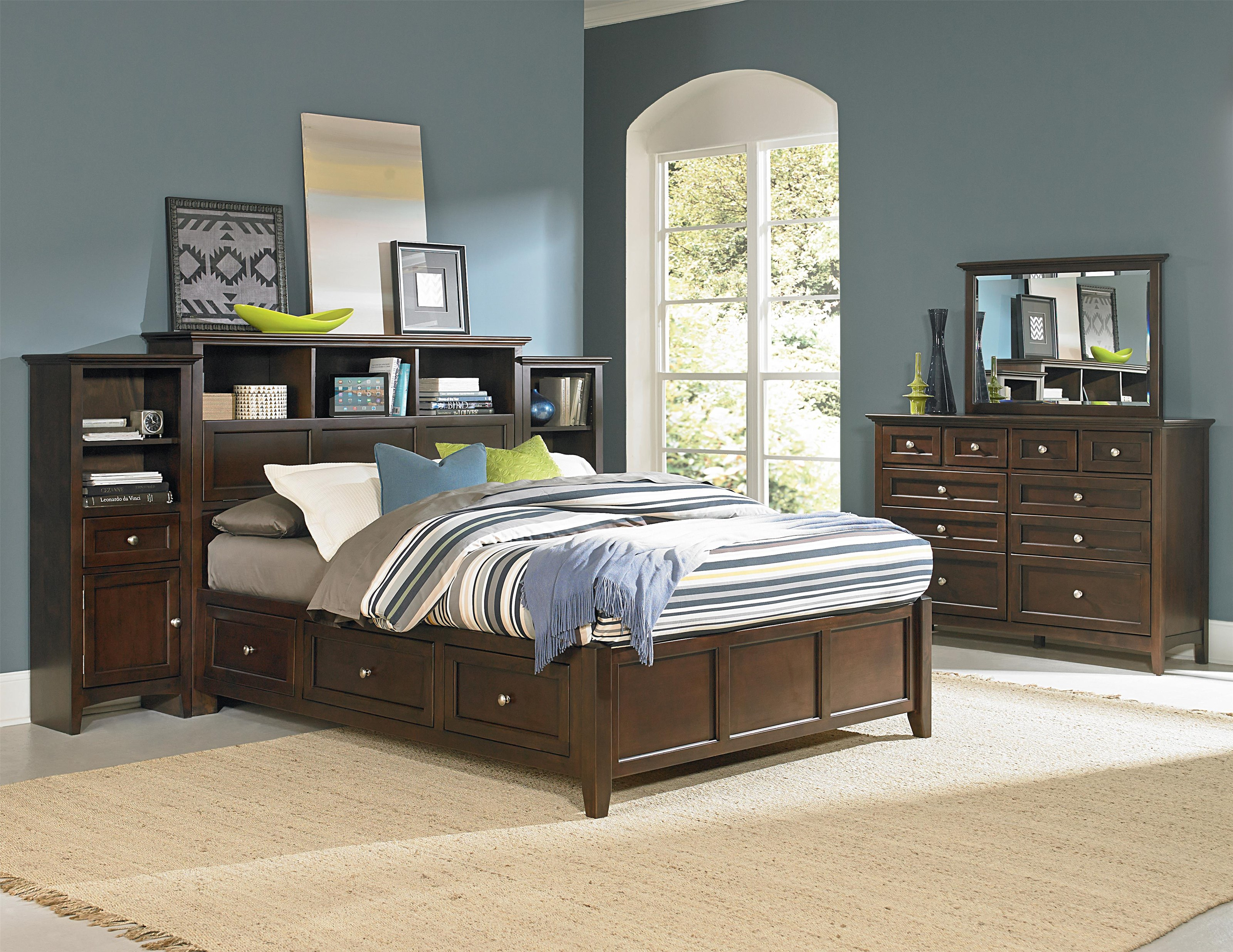 McKenzie Bedroom Group by Whittier Wood at Crowley Furniture & Mattress
