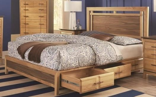 Addison Queen Panel Storage Bed by Whittier Wood at HomeWorld Furniture