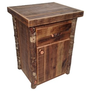 1 Drawer and Door Nightstand