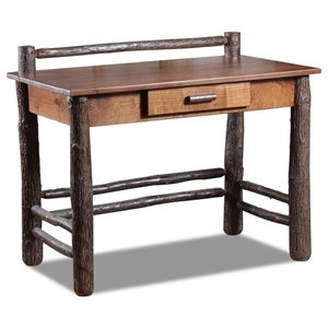 Hickory Student Desk with 1 Drawer
