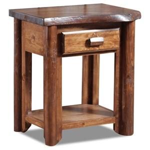 1 Drawer Log Nightstand