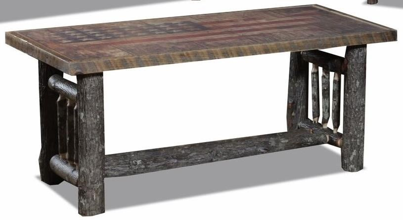 Hickory Spindle Coffee Table by Wildwoods at Furniture Superstore - Rochester, MN
