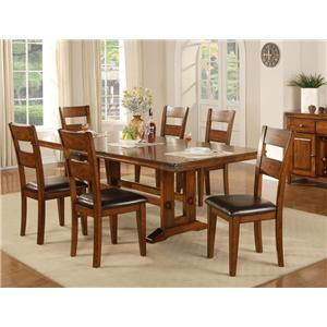 7 Piece Pub Table and Barstool Set