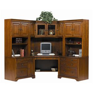 Winners Only Americana Cherry Modular L-Shaped Desk Unit