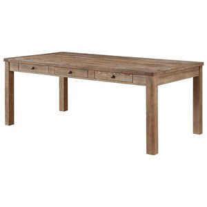 Rustic Dining Table with Storage