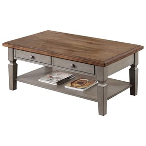 "48"" Coffee Table with Shelf"