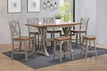 Pub Table & 4 Chairs with Barstools