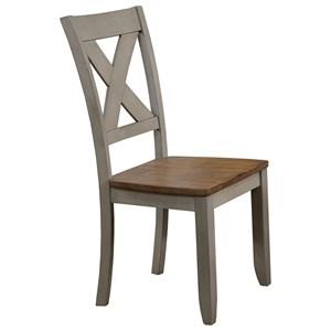 X Back Farmhouse Dining Side Chair