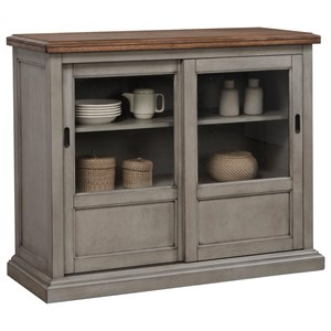 """45"""" Sideboard with Sliding Glass Doors"""