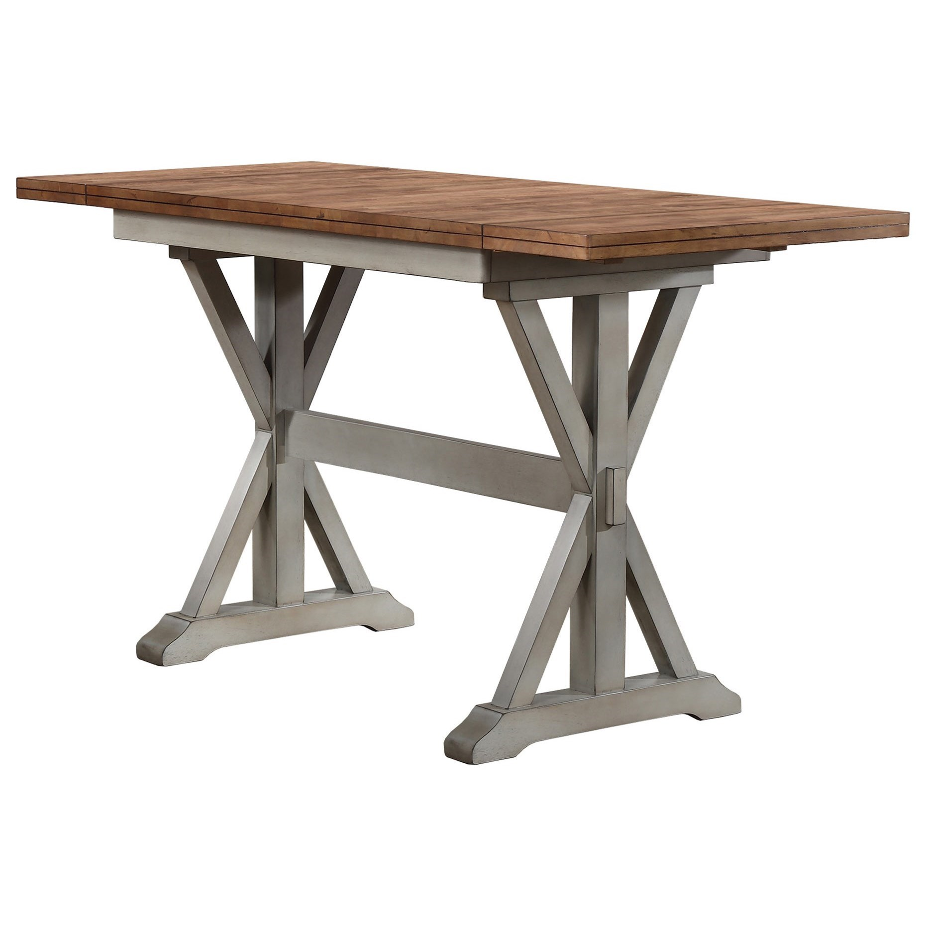 Counter Height Trestle Dining Table
