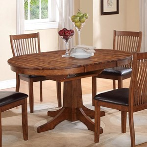 "Round Table with 18"" Butterfly Leaf"