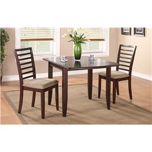 "50"" Table and Chair Set with Upholstered Seat Cushions"