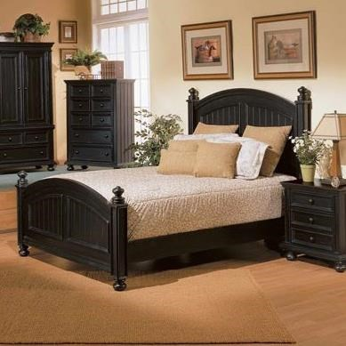 Cape Cod  Panel Queen Bed by Winners Only at Mueller Furniture
