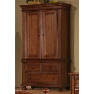 Two Door Armoire with Three Drawers