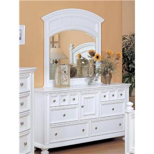 Winners Only Cape Cod  Six Drawer Dresser and Mirror Combo