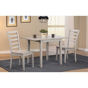 Dining Set with Ladderback Chairs and Butterfly Leaf