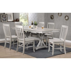 """60"""" Rectangular Table with 18"""" Butterfly Leaf"""