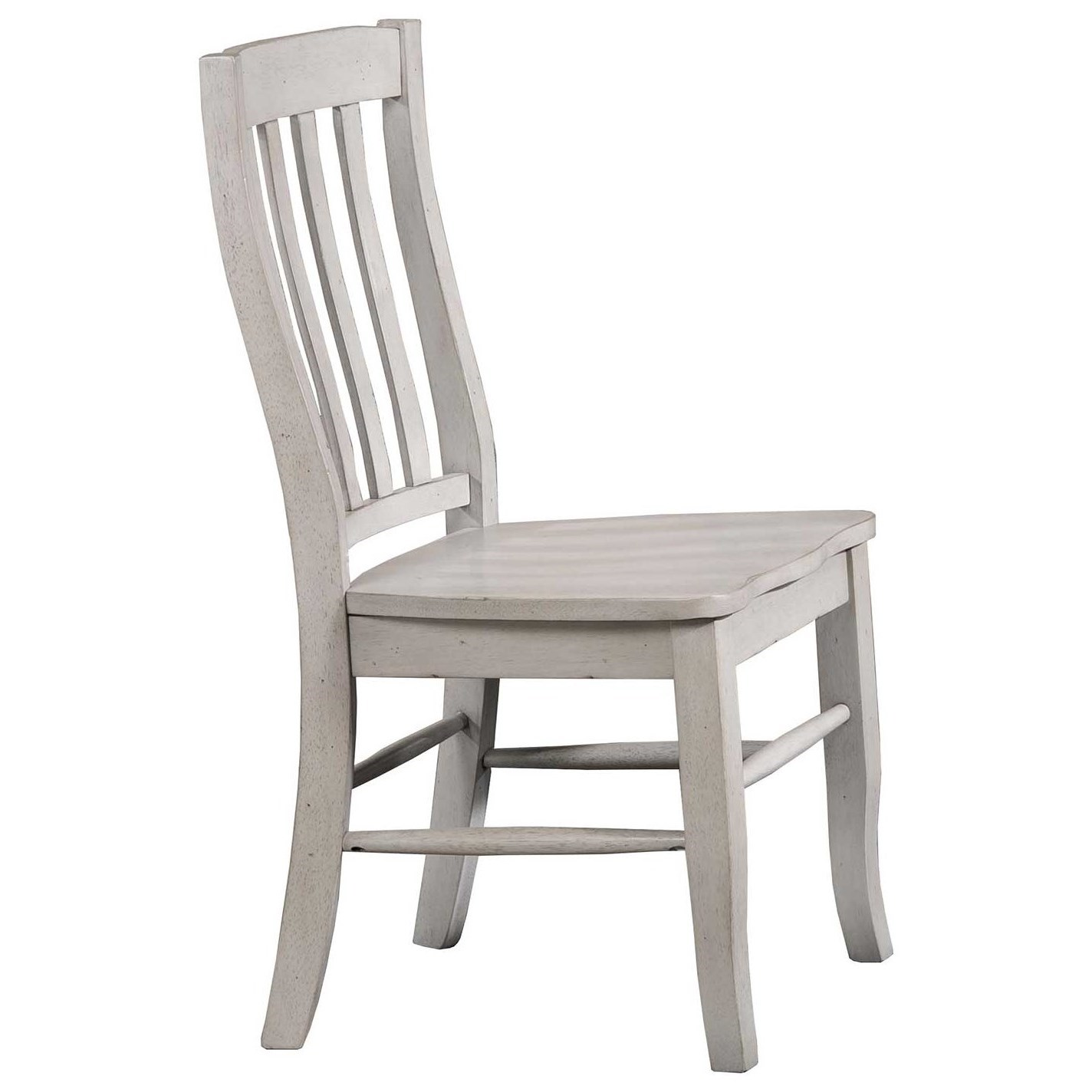 Carmel Rake Back Side Chair by Winners Only at Crowley Furniture & Mattress