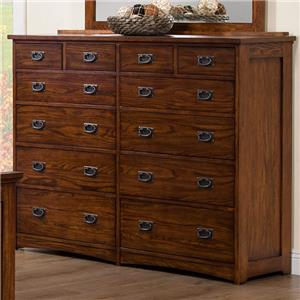 Tall 12-Drawer Dresser