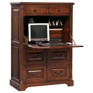Computer Armoire with Drop-Face Desk Top