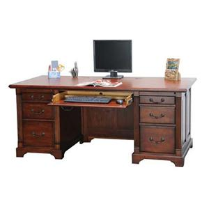 "Winners Only Country Cherry 72"" Flattop Desk"