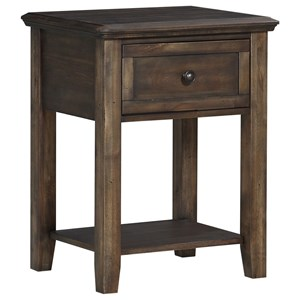 Transitional 1-Drawer Nightstand with Felt Lining