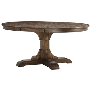 "Oval Dining Room Table with 18"" Leaf"