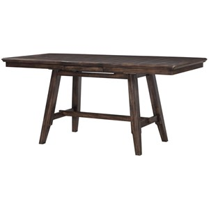 """78"""" Solid Birch Counter Height Table with 12"""" Removable Leaf"""