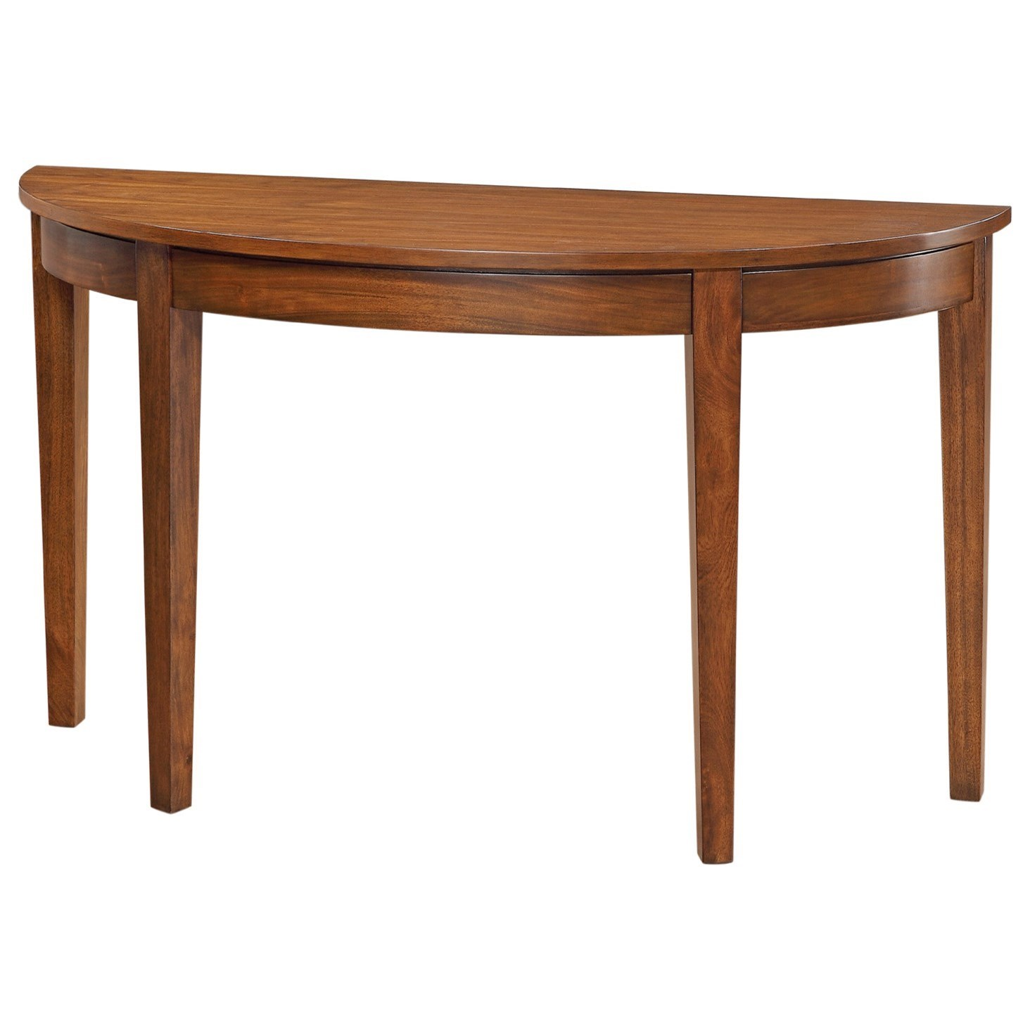 "Davenport 52"" Half Round Sofa Table by Winners Only at Mueller Furniture"