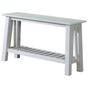 "50"" Farmhouse Sofa Table with Slat Shelf"