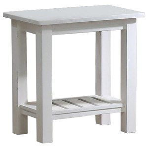 "14"" Chair Side Table with Slatted Shelf"