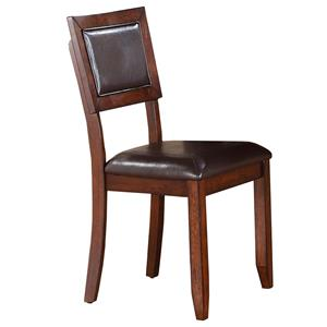 Cushioned Back Side Chair with Tapered Legs