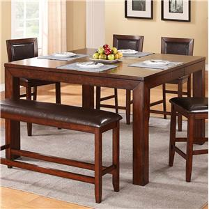 Counter Height Leg Table with Butterfly Leaf