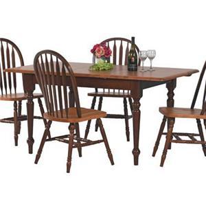 Winners Only Farmhouse Rectangular Leg Table