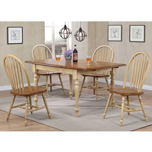 5 Piece Country Dining Set