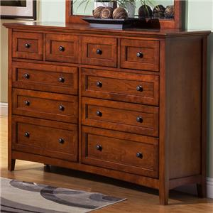 9 Drawer Dresser with Drop Front