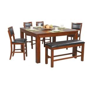 Winners Only Franklin 6 Piece Tall Table, Bench & Barstool Set