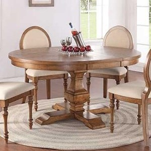 """Cottage Style 66"""" Pedestal Table with 18"""" Leaf"""