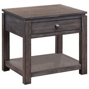 """24"""" End Table with Shelf"""