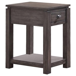"""14"""" Chair Side Table with Shelf"""