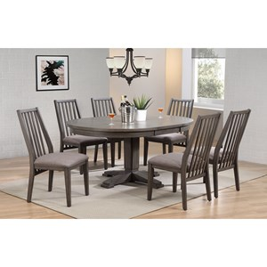 7 Piece Pedestal Table and Chair Set