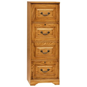 Traditional 4 Drawer File with 2 Locking Drawers