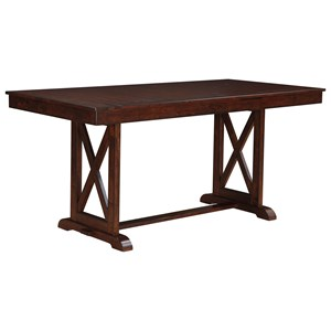 """Transitional 78"""" Counter Height Trestle Table"""