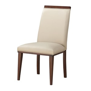 Contemporary Side Chair with Upholstered Seat and Back