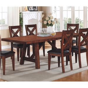 Trestle Table with Two Leaves