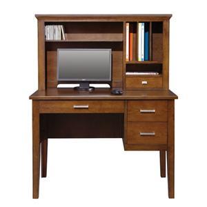"""42"""" Single Pedestal Desk and Hutch"""