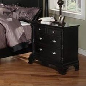 """Transitional 32"""" Nightstand with Metal Hardware"""