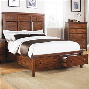 Queen Panel Storage Bed with 2 Drawers