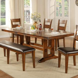 Mango Trestle Table by Winners Only at Crowley Furniture & Mattress