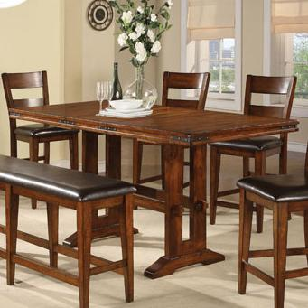 Mango Tall Trestle Table by Winners Only at Mueller Furniture
